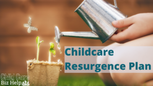 childcare resurgence plan