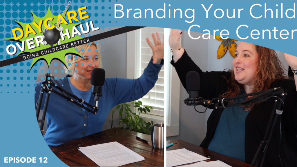 child care branding podcast image